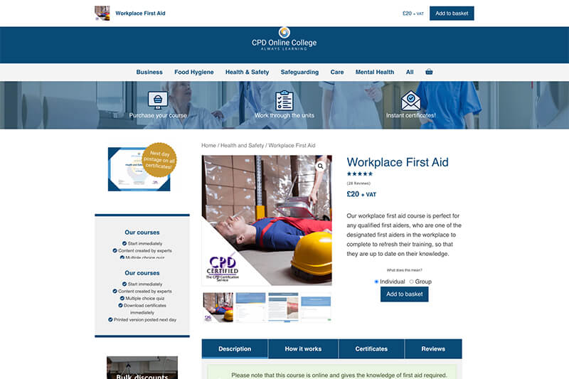 CPD Online first aid training