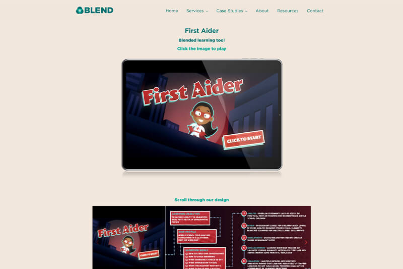 Interactive online first aid course from Blend