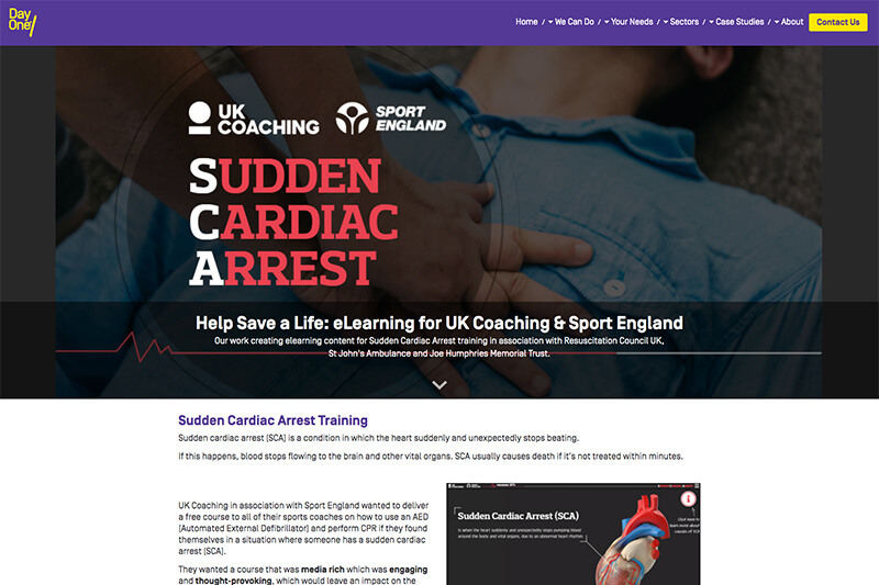 Sudden Cardia Arrest training from Day One
