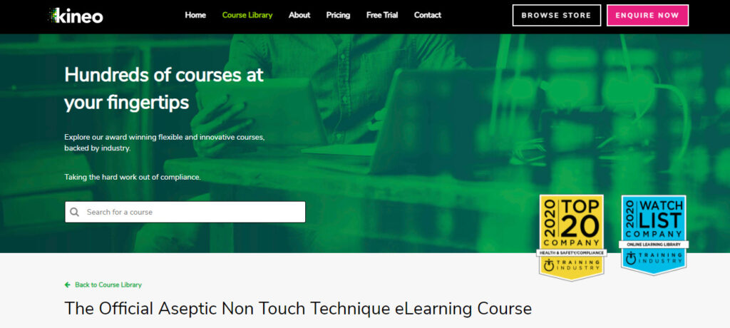 NHS e-learning courses from Kineo